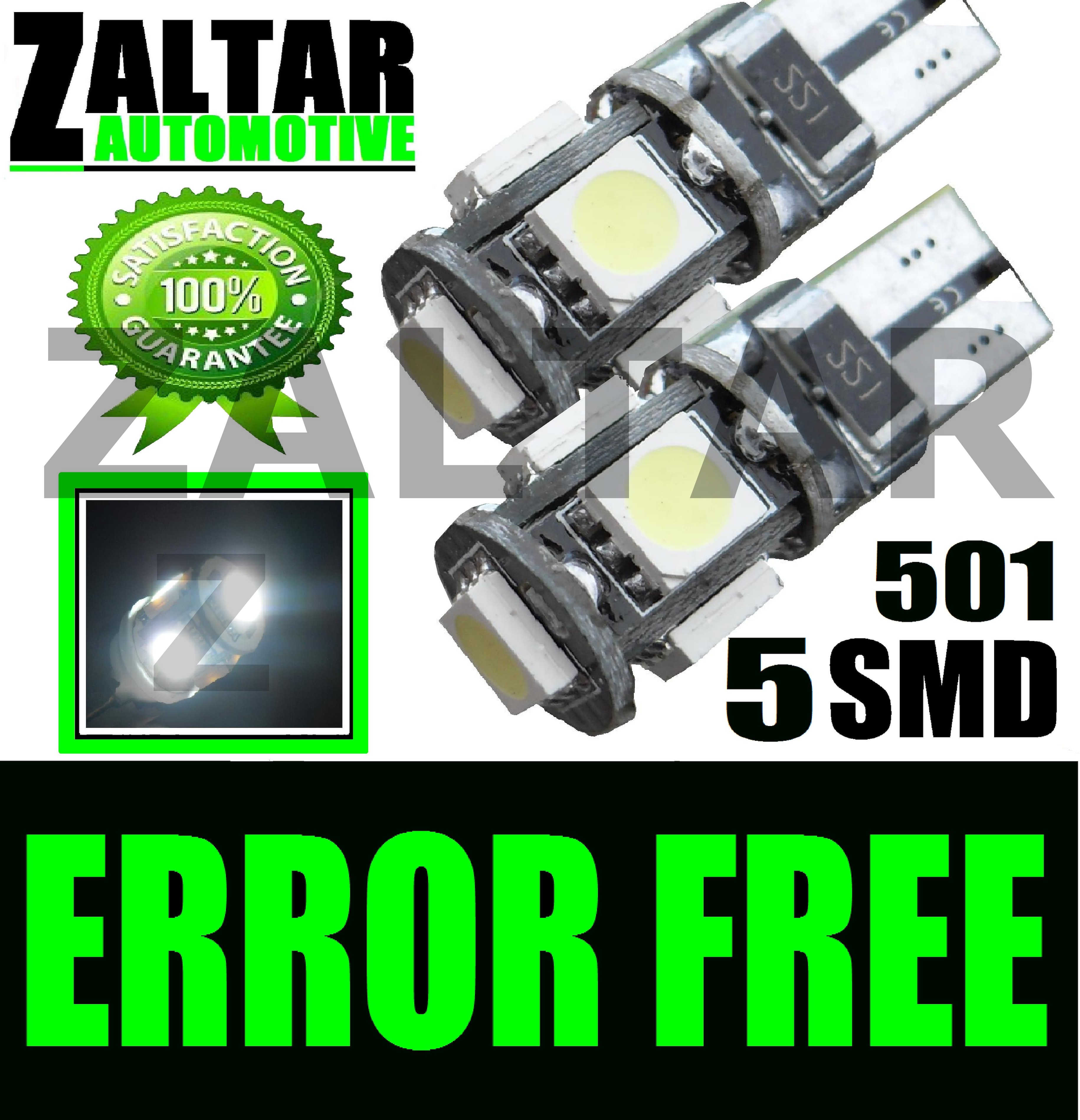 501 5 SMD LED XENON WHITE SIDELIGHT CANBUS BULBS FORD MONDEO ESTATE ST  ZETEC